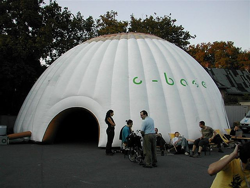 Doom-tent 14m diameter 6m high & Wireless:Tents - Chaos Communication Camp 2007