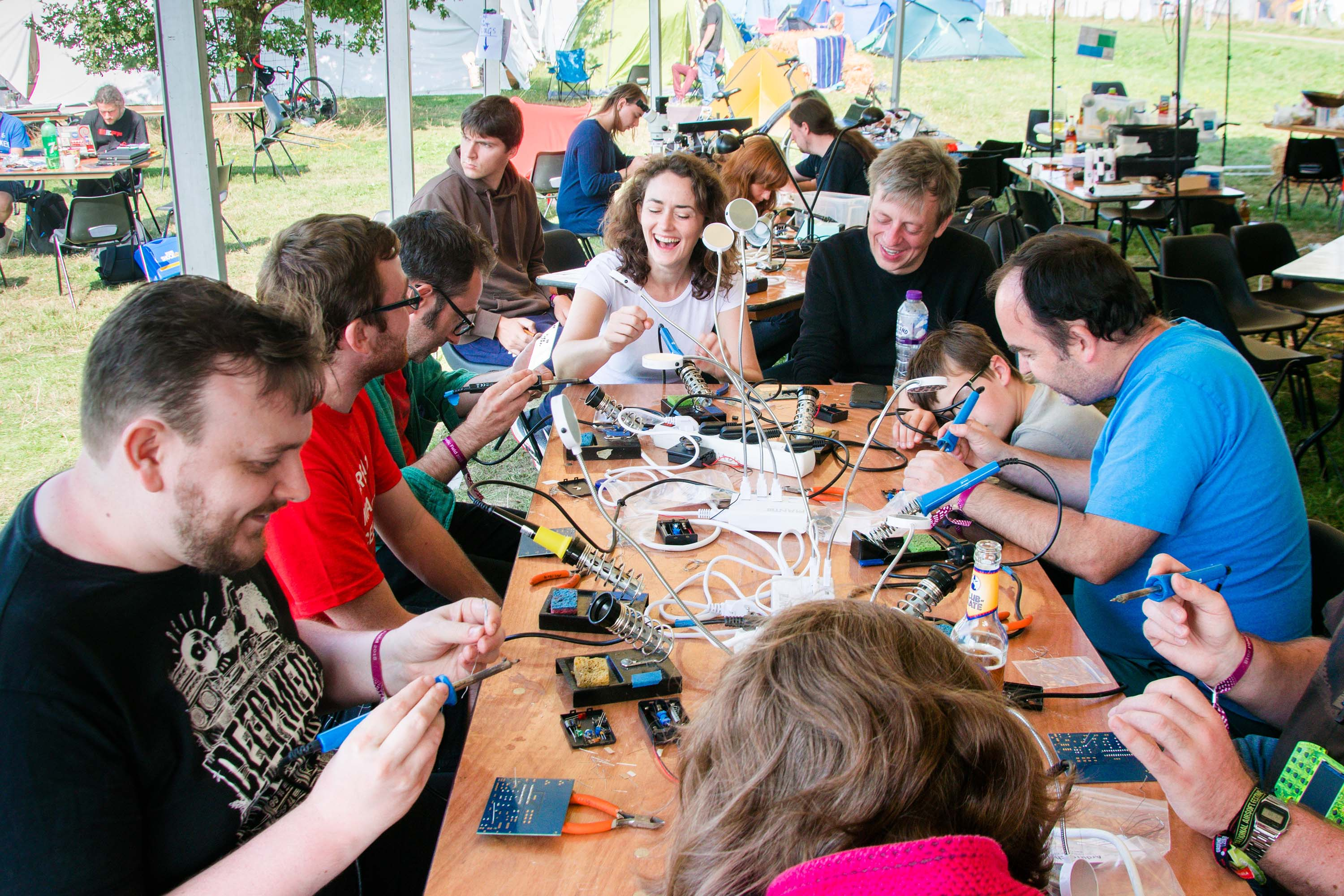 ArduTouch Music Synthesizer soldering Workshop at EMF Camp 2018 style=