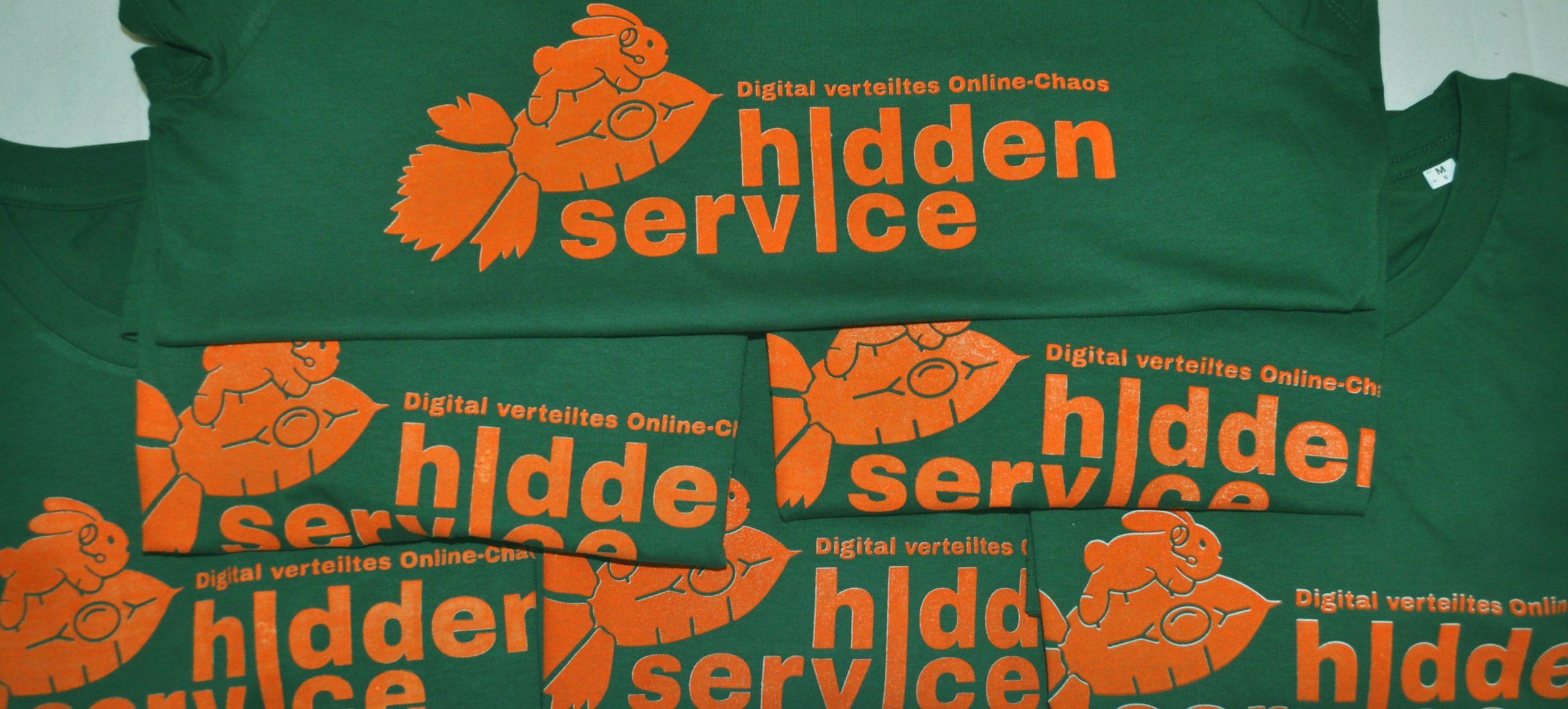 T-Shirts mit dem Logo von DiVOC ? Hidden Service: Einem Häschen auf einer Carrotdust