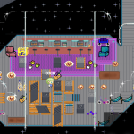 Space station bar with buildup material